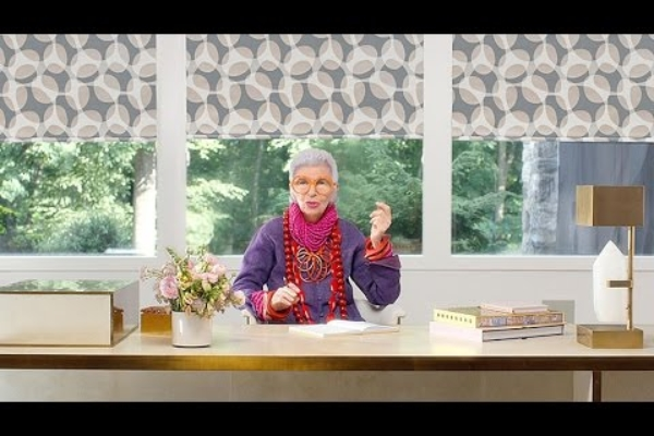 Iris Apfel + Hunter Douglas - Powered by Style